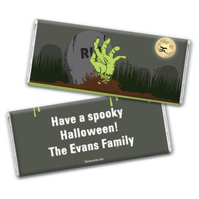 A Grave Scene Personalized Candy Bar - Wrapper Only