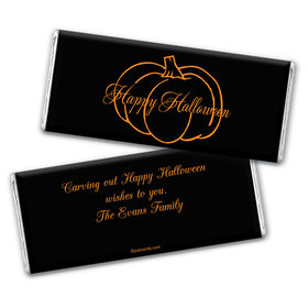 Pumpkin Highlight Personalized Candy Bar - Wrapper Only