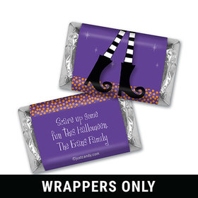 The Witch Is In Halloween Personalized Miniature Wrappers