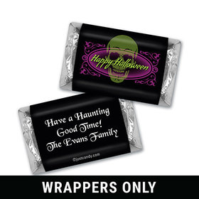 Evil Spectre Halloween Personalized Miniature Wrappers