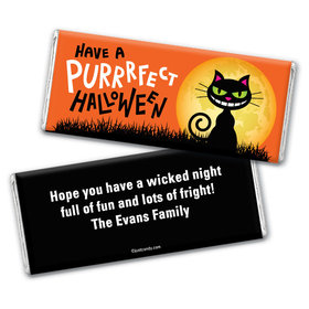 Black Cat Moon Personalized Candy Bar - Wrapper Only