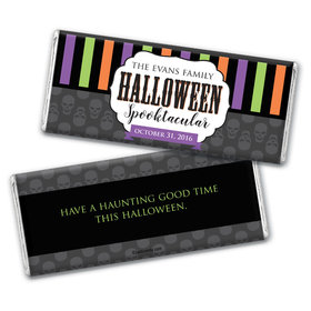 Halloween Personalized Chocolate Bar Party Spirits