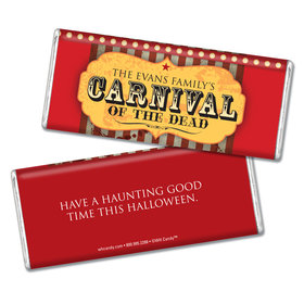 Halloween Personalized Chocolate Bar Carnival of the Dead
