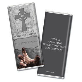 Halloween Chocolate Personalized Bar Grave Robber - Zombie's Alive!