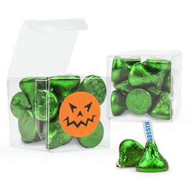 Halloween Pumpkin Hershey's Kisses Clear Gift Box