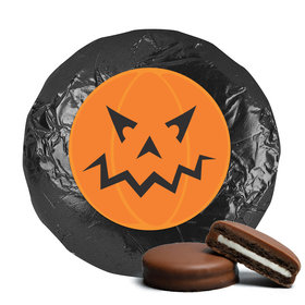 Personalized Halloween Jack-O-Lantern Chocolate Covered Oreo Cookies