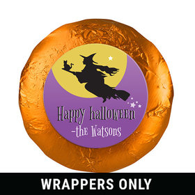 """Personalized 1.25"""" Stickers - Halloween Witch (48 Stickers)"""