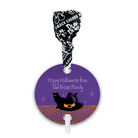 Personalized Halloween The Witch Is In Dum Dums with Gift Tag (75 pops)