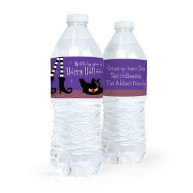 Personalized The Witch Is In Halloween Water Bottle Labels (5 Labels)
