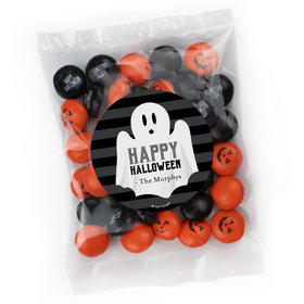Personalized Halloween Candy Bag with JC Minis Milk Chocolate Gems - Ghostly Greetings