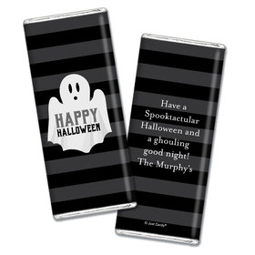 Personalized Halloween Ghouling Ghost Chocolate Bar & Wrapper