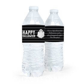 Personalized Ghouling Ghost Halloween Water Bottle Labels (5 Labels)