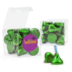 Personalized Halloween Spirit Hershey's Kisses Clear Gift Box with Sticker