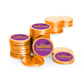 Personalized Halloween Spirit Chocolate Coins (84 Pack)