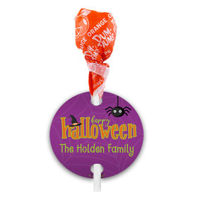 Personalized Halloween Spirit Dum Dums with Gift Tag (75 pops)