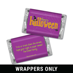 Personalized Halloween Spirit Hershey's Miniatures Wrappers