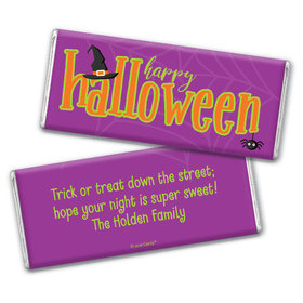 Personalized Halloween Spirit Chocolate Bar & Wrapper