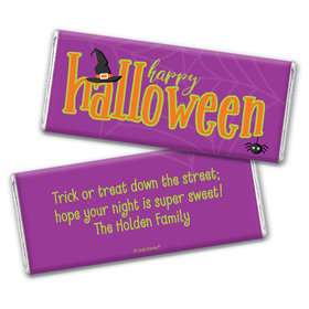 Personalized Halloween Spirit Chocolate Bar Wrappers Only
