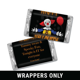 Personalized Halloween Creepy Clown Hershey's Miniatures Wrappers