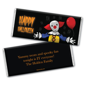 Personalized Halloween Creepy Clown Chocolate Bar Wrappers Only