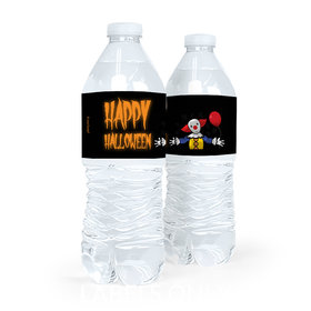 Personalized Creepy Clown Halloween Water Bottle Labels (5 Labels)