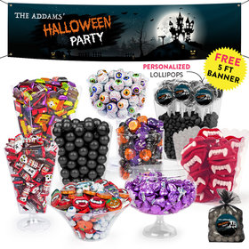 Personalized Halloween Spooky Invite Deluxe Candy Buffet