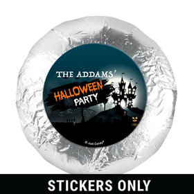 Personalized Spooky Invite Halloween 1.25in Stickers (48 Stickers)