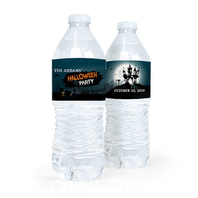 Personalized Spooky Invite Halloween Water Bottle Labels (5 Labels)