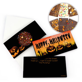 Personalized Halloween Jack-O'-Lanterns Bar Gourmet Infused Belgian Chocolate Bars (3.5oz)