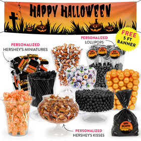 Personalized Halloween Jack'O'Lanterns Deluxe Candy Buffet