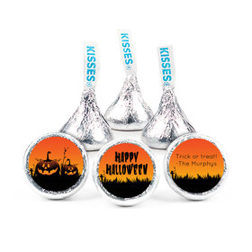 Personalized Halloween Jack'O'Lanterns Hershey's Kisses (50 pack)