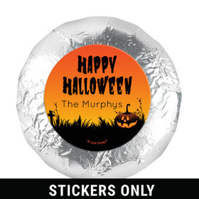 Personalized Jack'O'Lantern Halloween 1.25in Stickers (48 Stickers)