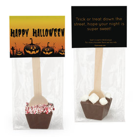 Personalized Halloween Jack-O-Lanterns Hot Chocolate Spoon