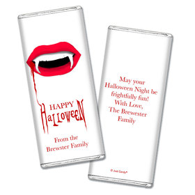 Personalized Halloween Vampire's Kiss Chocolate Bar & Wrapper