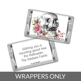 Personalized Halloween Floral Skull Hershey's Miniatures Wrappers