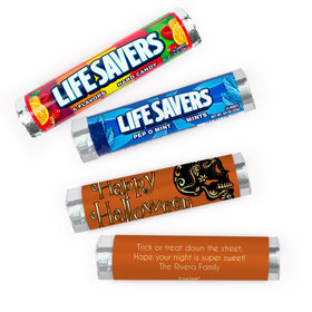 Personalized Halloween Guilded Sugar Skull Lifesavers Rolls (20 Rolls)