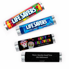 Personalized Halloween Festive Sugar Skull Lifesavers Rolls (20 Rolls)