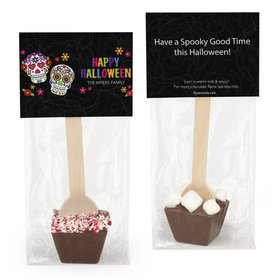 Personalized Halloween Sugar Skulls Hot Chocolate Spoon