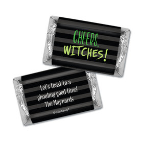 Personalized Cheers, Witches! Halloween Hershey's Miniatures Wrappers