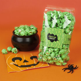 Personalized Halloween Spooky Phrases Candy Coated Popcorn 8 oz Bags