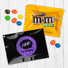 Personalized Halloween Spooky Phrases - Peanut M&Ms