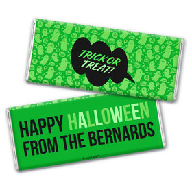 Personalized Halloween Spooky Phrases Chocolate Bar & Wrapper