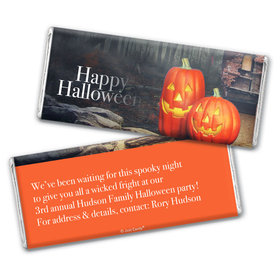 Personalized Halloween Ghostly Greetings Chocolate Bar & Wrapper