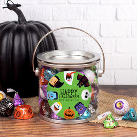 Personalized Halloween Gift Monster Party Paint Can