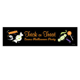 Personalized Halloween No Tricks Just Treats Banner