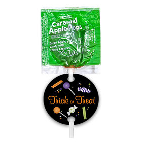 Halloween No Tricks Just Treats Caramel Apple Pops with Gift Tags (48 pops)