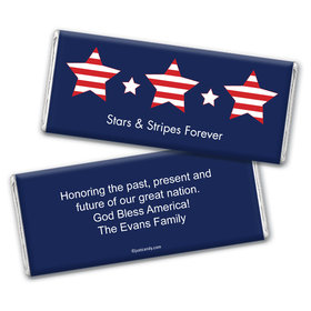 Patriotic Personalized Chocolate Bar Wrappers