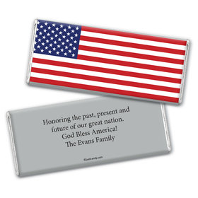 Freedom Flag Personalized Candy Bar - Wrapper Only