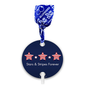 Independence Day Stars & Stripes Dum Dums with Gift Tag (75 pops)