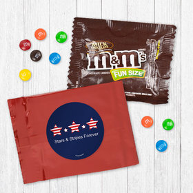 Personalized Patriotic Stars and Stripes - Milk Chocolate M&Ms